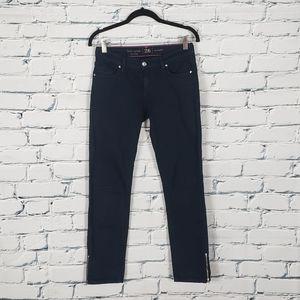Kate Spade Indigo Skinny Jeans with Ankle Zipper